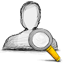 user, search Black icon