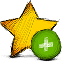 Add, star Gold icon