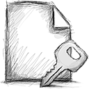 File, Encrypted Black icon