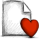 Favourite, File Firebrick icon