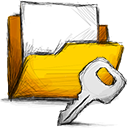 Folder, Encrypted Gold icon