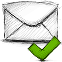 Email, Accept Black icon