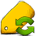 tag, refresh Gold icon