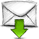 Email, download Black icon
