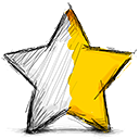 right, half, star Black icon