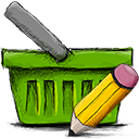 Edit, Basket OliveDrab icon