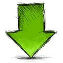 Down, Arrow OliveDrab icon