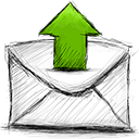 upload, Email Black icon