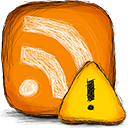 Rss, Error DarkOrange icon