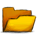 Folder, Empty DarkGoldenrod icon
