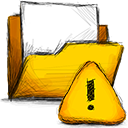 Error, Folder Gold icon