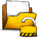 Folder, Unlocked Gold icon