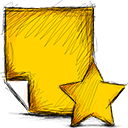 Starred, Note Gold icon