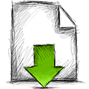 File, download Black icon