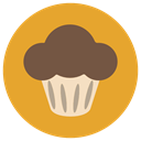 Bakery, Cakes, cake, food, baked, Desserts, muffin Goldenrod icon
