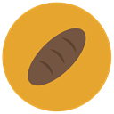 breakfast, loaf, Bread, food, Bakery Goldenrod icon