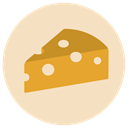 food, Dairy, Cheese, piece, wedge, Emmental Bisque icon