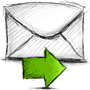 Email, Forward Black icon