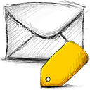 tagged, Email Gold icon