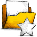 unstarred, Folder Gold icon