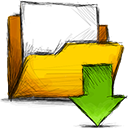 Folder, download Gold icon