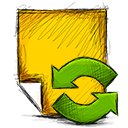 refresh, Note Gold icon
