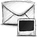 Email, photo Black icon