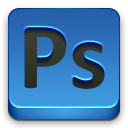 adobe, Ps SteelBlue icon