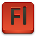 Fl, adobe Firebrick icon