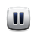 Pause, button Black icon