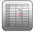 numbers Gray icon