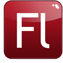 Flash, adobe Maroon icon