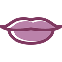 kiss, Femenine, lips, love, romantic, Body Part Black icon