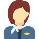 profession, woman, Assistant, Avatar, people, Stewardess, job, Occupation SlateGray icon