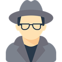 job, detective, Agent, spy, Occupation, Man, Avatar, profession, people DimGray icon
