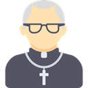 profession, christian, people, Occupation, Avatar, Priest, Man, religious, pastor, job DimGray icon