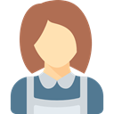 people, woman, profession, Avatar, Maid, Occupation, job IndianRed icon