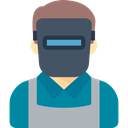 Welder, Man, worker, Occupation, job, Avatar, profession, people DarkCyan icon