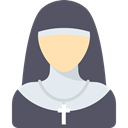 Avatar, religious, Occupation, Catholic, job, christian, nun, people, profession, woman DimGray icon