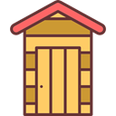 yard, Shed, buildings, garden, tools SandyBrown icon
