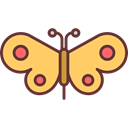 Moths, Animals, insect, butterfly Black icon