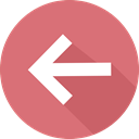 Multimedia Option, previous, directional, Orientation, Arrows, Back PaleVioletRed icon