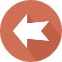 Back, directional, Arrows, previous, Multimedia Option, Orientation, left arrow IndianRed icon