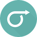 Orientation, right arrow, directional, Multimedia Option, Arrows CadetBlue icon