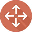 controller, Arrows, Orientation, Multimedia Option, directional IndianRed icon