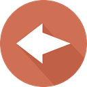 directional, Back, Multimedia Option, left arrow, Orientation, previous, Arrows IndianRed icon