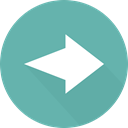 Orientation, skip, right arrow, Arrows, Multimedia Option, directional, next CadetBlue icon