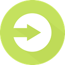 Orientation, Arrows, skip, directional, next, right arrow, Multimedia Option DarkKhaki icon