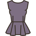 Garment, fashion, Elegant, dress, Top, Femenine, Clothes, clothing Gray icon