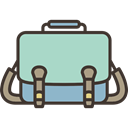 Bag, fashion, baggage, luggage, Book Bag, Briefcase, suitcase LightBlue icon
